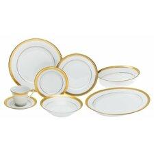 Crestwood Gold 50 Piece Dinnerware Set