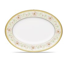 """Blooming Splendor 16"""" Oval Platter"""