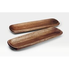 Kona Wood Rectangular Platter (Set of 2)