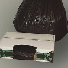 """38"""" x 60"""" Linear Low-Density Ecosac with 1.5 Mil in Black"""