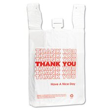 T-Shirt Thank You Bag in White, 500/Case