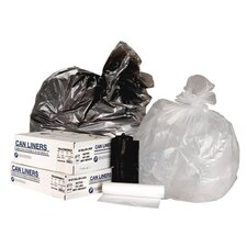 55 Gallon High Density Can Liner, 14 Micron Equivalent in Clear