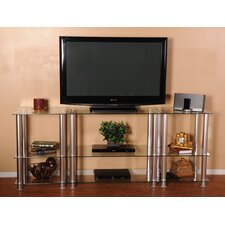 Extra Tall Glass and Aluminum TV Stand