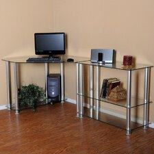 "Corner Computer Desk with 35"" Modular Extension"