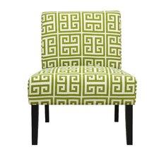Nate Green Greek Key Slipper Chair