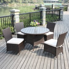Azura 5 Piece Outdoor Dining Set with Cushions