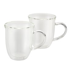 Insulated Glass 8 oz. Cappuccino Cup (Set of 2)