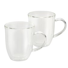 Insulated Glass 12 oz. Latte Cup (Set of 2)