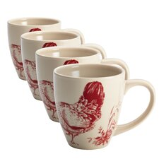 Chanticleer Country Stoneware Mug (Set of 4)