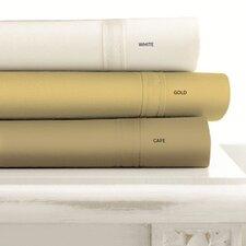 500 Thread Count 4-Piece Egyptian Cotton Cafe Sheet Set