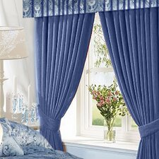 Atlantis Cotton Rod Pocket Curtain Panels (Set of 2)