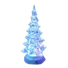 Battery Operated Acrylic Lighted Christmas Tree