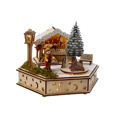 LED Wooden Musical Toy House
