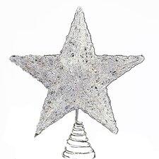 Spun Acrylic Look Plastic Star Tree Topper