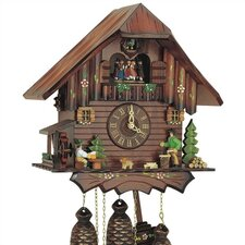 """12.5"""" 8-Day Movement Cuckoo Clock with Dancing Couples"""