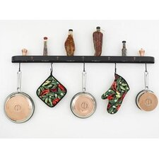 "Fleur de Lis 46"" Wall Mounted Pot Rack"