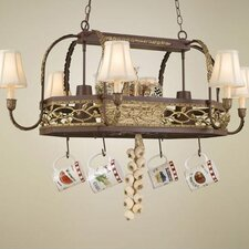 Napa Chandelier Pot Rack with Shade