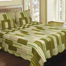 Camping Patchwork Stripe Quilt