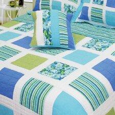 Ocean Square Patchwork Quilt
