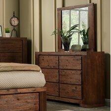Pierre 6 Drawer Dresser with Mirror