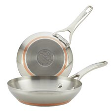 Nouvelle Copper Stainless Steel 2-Piece French Skillet Set