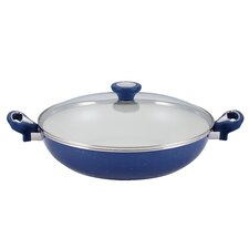 "Ceramic Cookware 12.5"" Non-Stick Skillet with Lid"