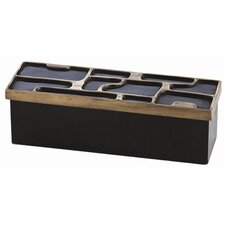 Piper Brass & Wood Storage Box with Lid