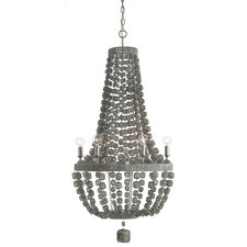 Jada 6 Light Wire Wrapped Chandelier