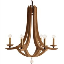 Manning Wood / Crystal 6 Light Chandelier