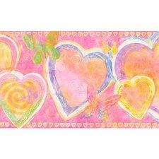 """Whimsical Children's Vol. 1 Heart 15' x 9"""" Border Wallpaper"""