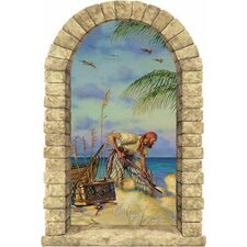 Pirate Banking Window Wall Mural