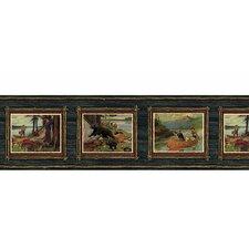 """Lodge Décor 15' x 7.25"""" Adventure Scenic Border Wallpaper"""