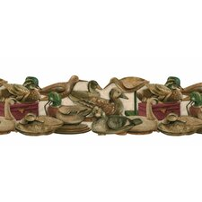 """Lodge Décor 15' x 9"""" The Decoys Asted Die-Cut Wildlife Border Wallpaper"""