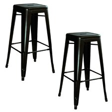 "AmeriHome 30"" Bar Stool (Set of 2)"