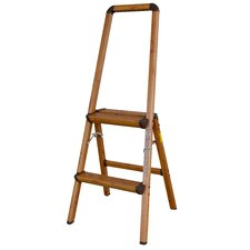 AmeriHome 3.7 ft Aluminum Lightweight Step Ladder with 225 lb. Load Capacity