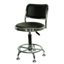 Height Adjustable Low-Back Drafting Chair with Casters (Set of 2)
