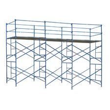 "Pro Series 13.33' H x 252"" W x 60"" D Steel Exterior Tower Scaffolding System with 375 lb. Load Capacity Type 2A Duty Rating"