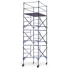 "Pro Series 21.17' H x 84"" W x 60'' D Steel Story Tower Scaffolding System with 375 lb. Load Capacity Type 2A Duty Rating"