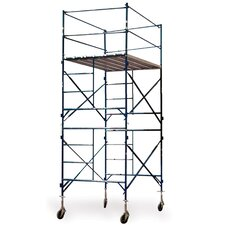 "Pro Series 16.17' H x 84"" W x 60"" D  Steel Two Story Tower Scaffold with 375 lb. Load Capacity Type 2A Duty Rating"