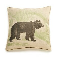 Lava Bear Etching Throw Pillow