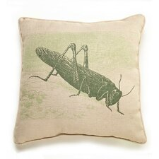 Lava Grasshopper Etching Throw Pillow