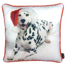 Holiday Dalmation Throw Pillow
