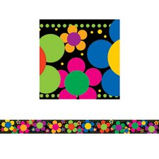 Neon Flower Power Classroom Border (Set of 2)