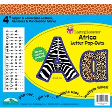 Africa Pop-outs Letters & Numbers
