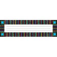 Remember Me Desk Neon Stripes Name Tag