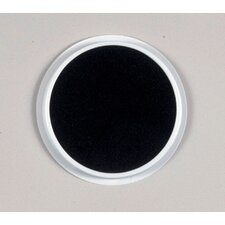 Jumbo Circular Washable Pads Black (Set of 2)