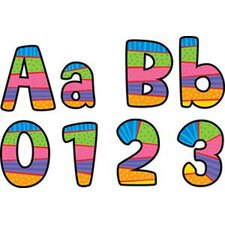 Poppin Playful Patterns Letters and Numbers