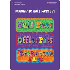 Magnetic Hall Pass Book (Set of 3)