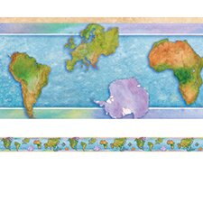 World Continents Classroom Border (Set of 2)