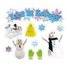 43 Piece Let It Snow Mini Bulletin Board Cut Out Set